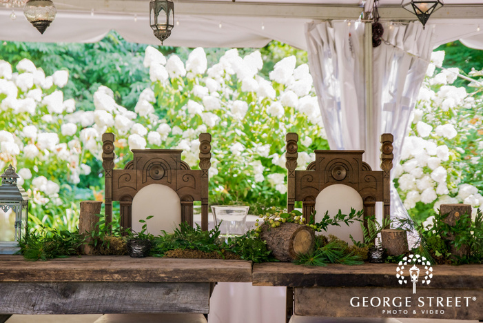 elegant reception table decor details wedding photo