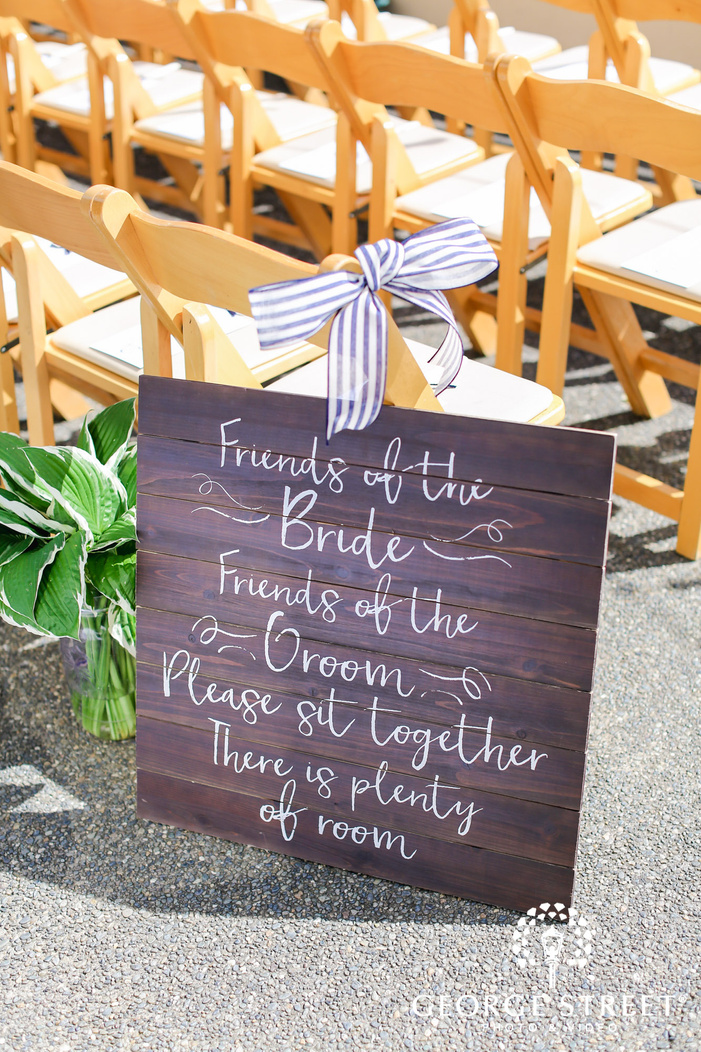 lovely ceremony decor details wedding photo