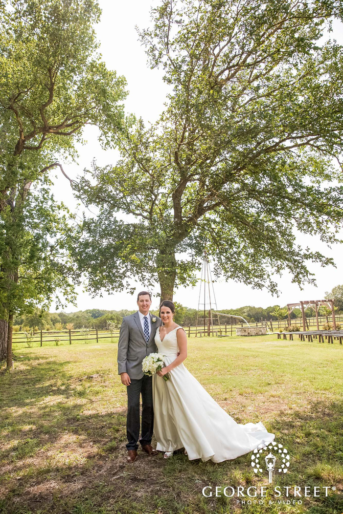 blissful bride and groom at green yard in austin wedding photography