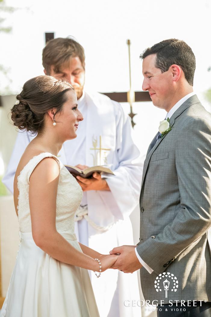 happy bride and groom wedding vows exchange wedding photo