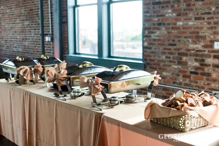 delicious reception food wedding photo