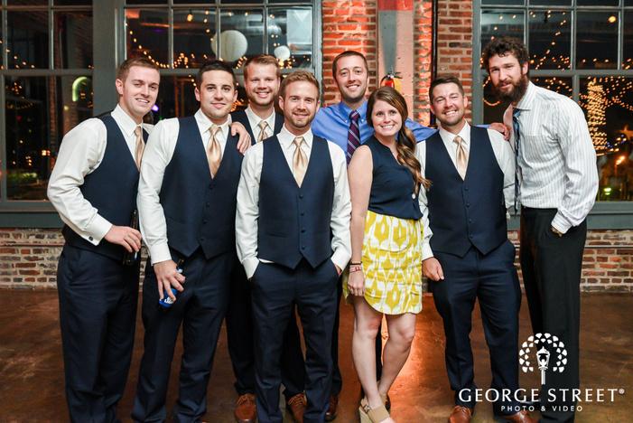 happy guests at wedding reception wedding photo