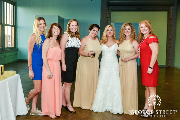 lovely bridesmaids in wedding reception wedding photography