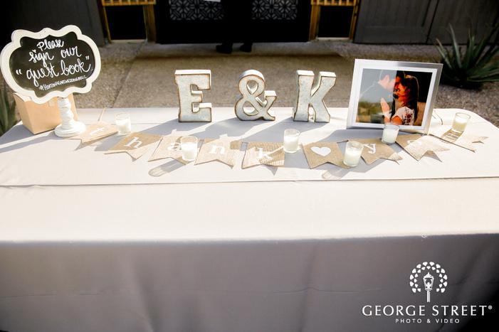 classic reception decor details wedding photo