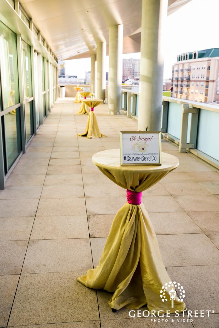 elegant reception decor details wedding photo