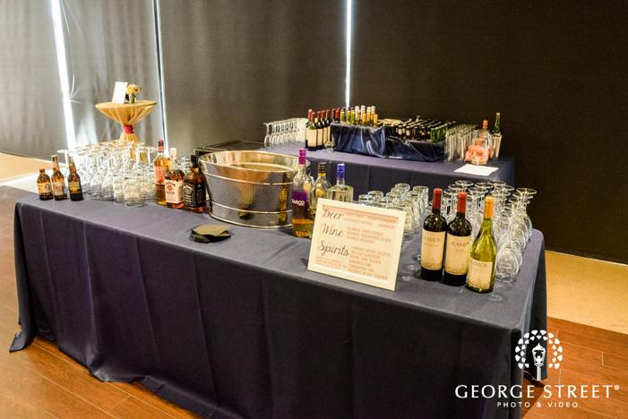 stylish reception bar wedding photo