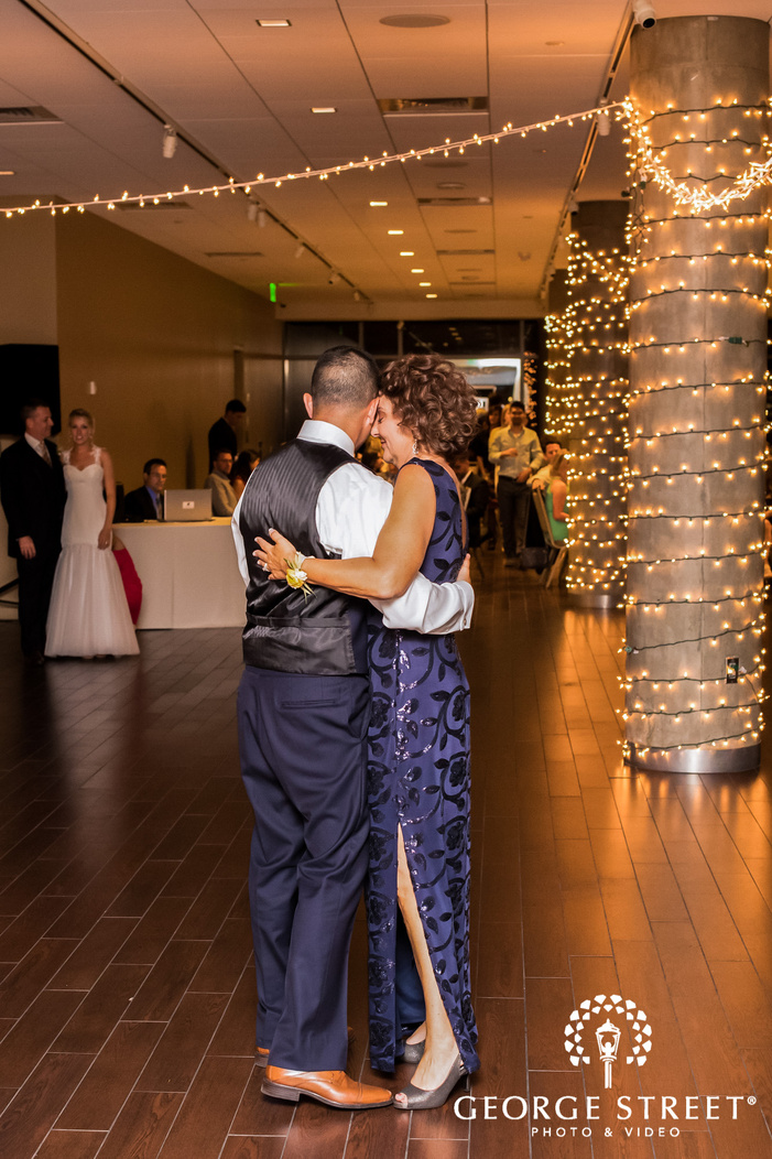 sweet groom and mother reception dance wedding photo