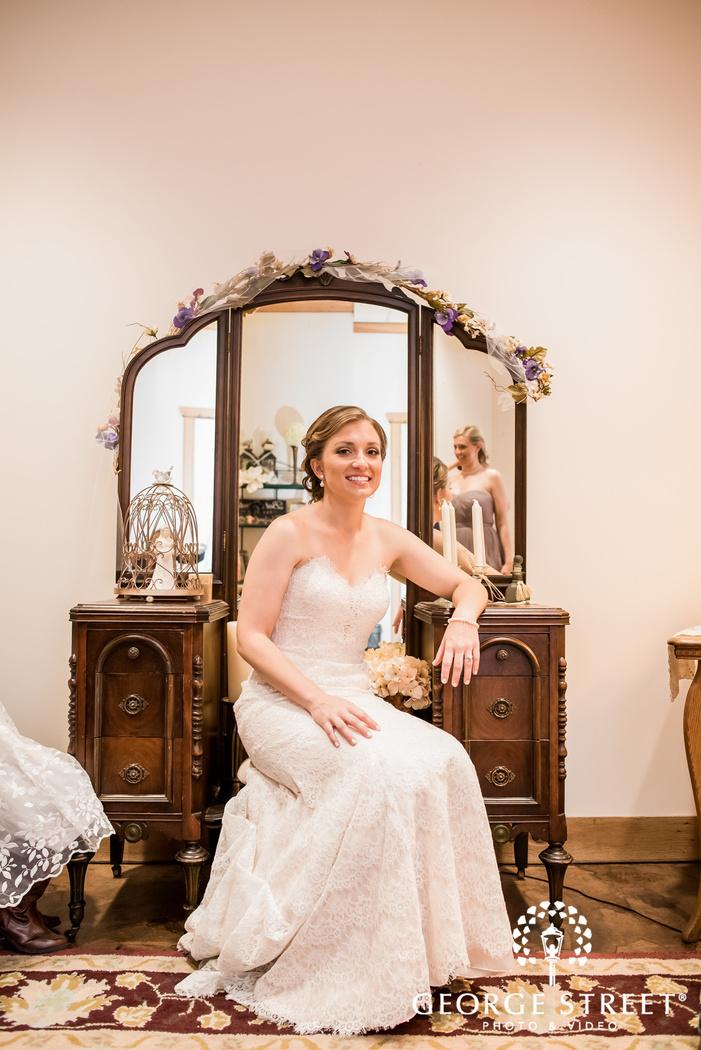 beautiful bride in bridal room