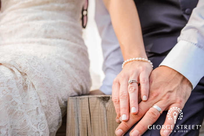 elegant wedding rings detail