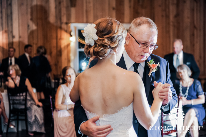 good looking bride and father reception dance