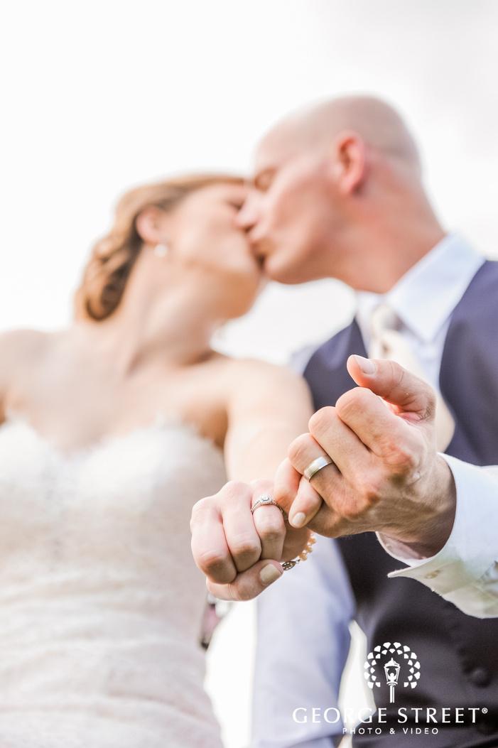 lovely bride and groom rings detail
