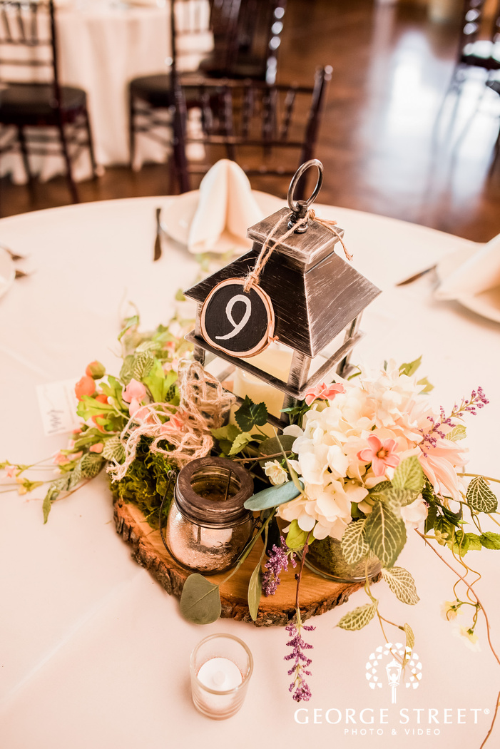 lovely reception table detail wedding photography