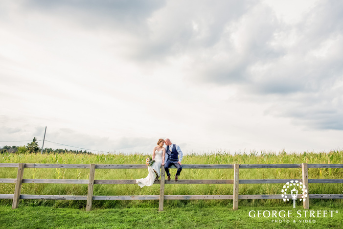 mesmerizing bride and groom at abbey farms in chicago