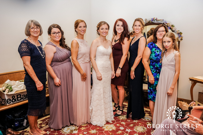 sweet bride and guests