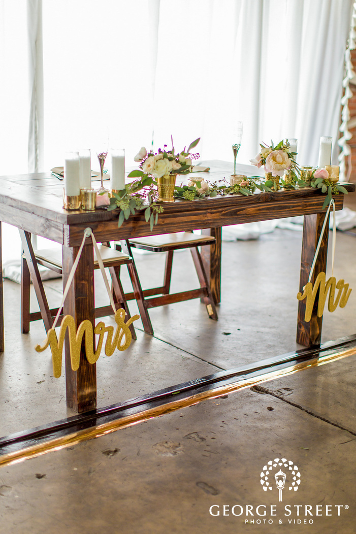 adorable couple table setting details in san diego wedding photos
