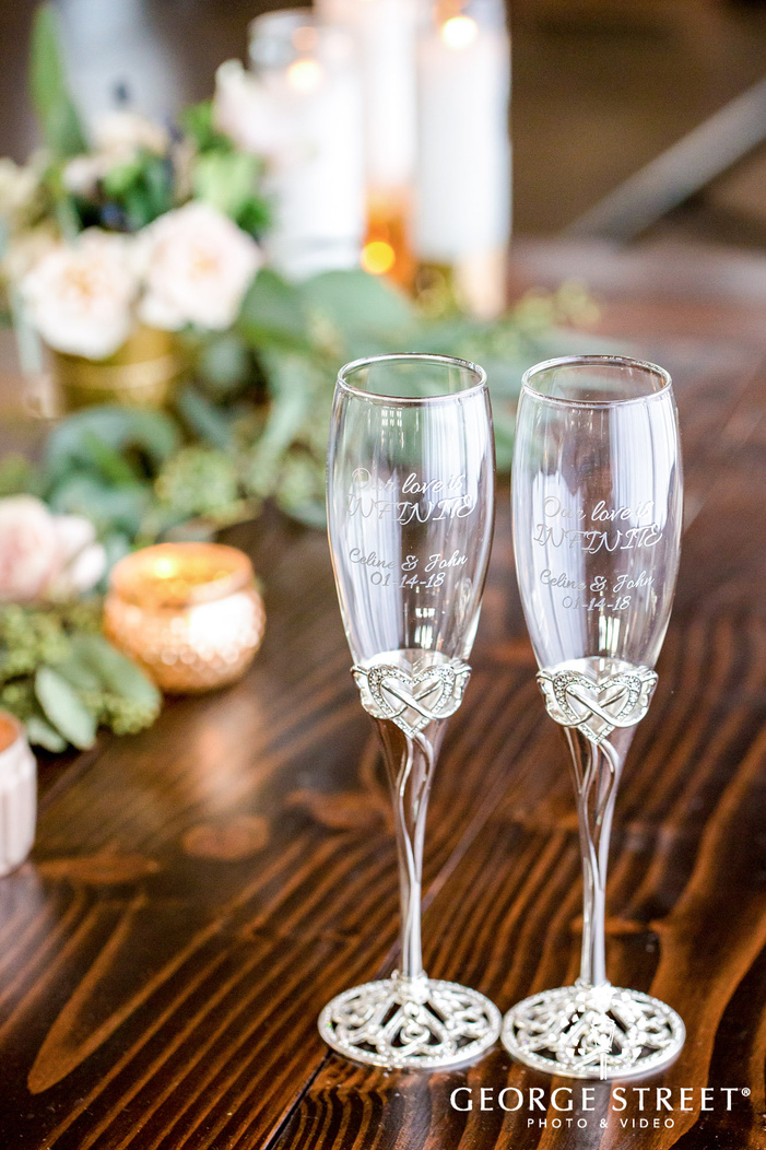 adorable customized glasses wedding photos