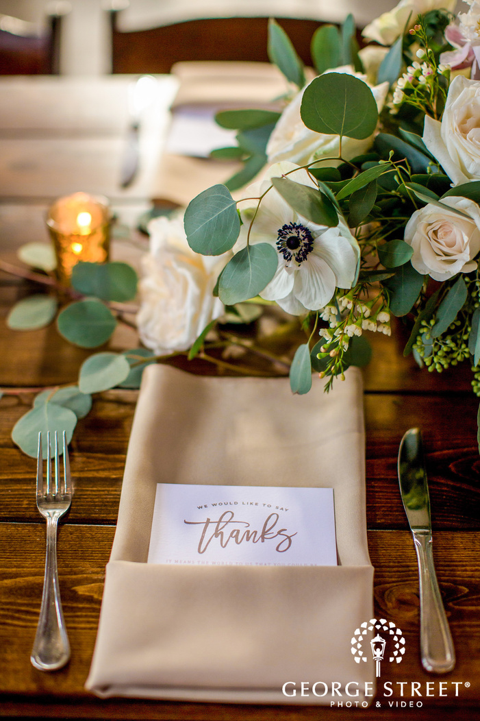 adorable table setting details wedding photography