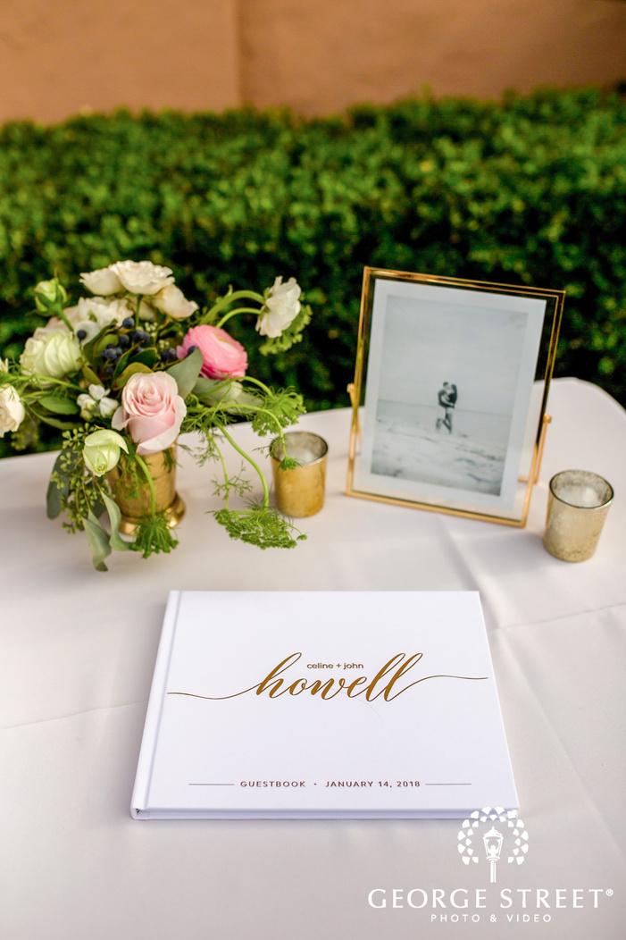 cute guest signature book wedding photo