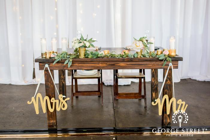 cute reception table decor wedding photo