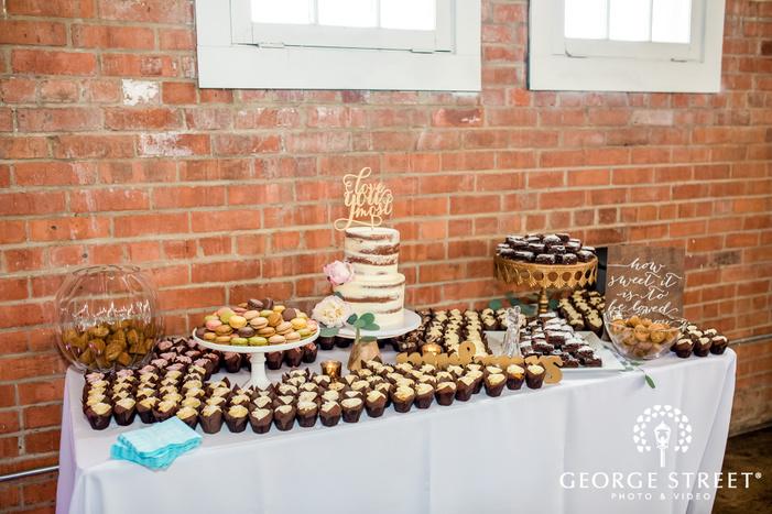 delightful dessert table wedding photo