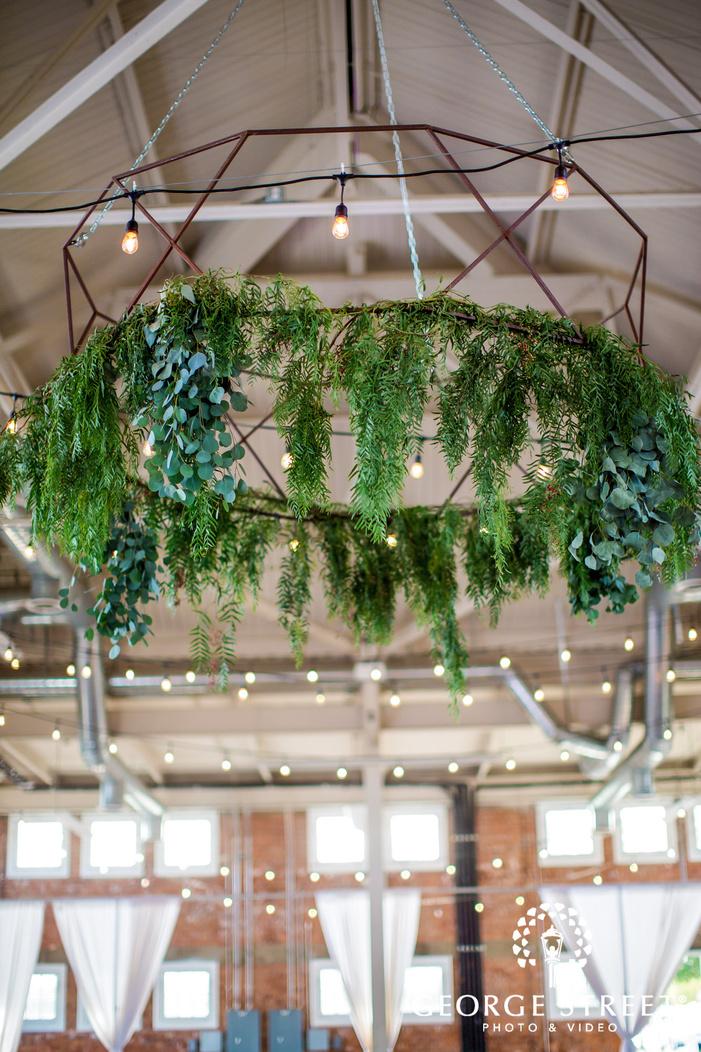 lovely chandelier wedding photo