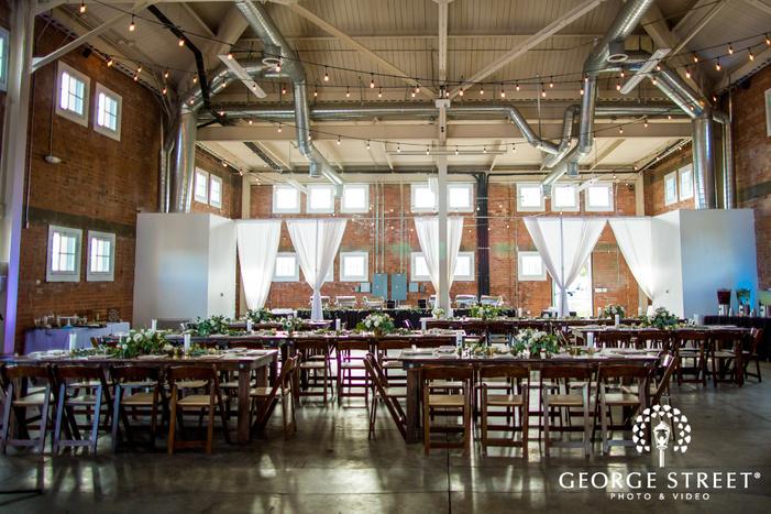 mesmerizing reception hall setting wedding photo