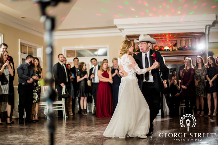 beautiful bride and father reception dance