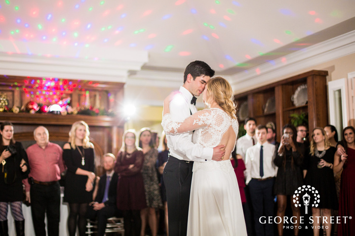 charming bride and groom reception dance at the mansion at colovista in austin