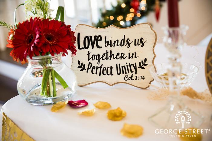 decent reception decor detail wedding photo