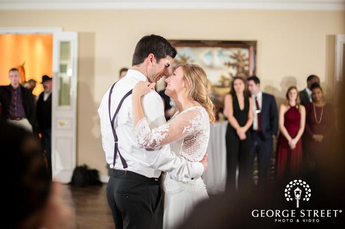good looking bride and groom reception dance wedding photography