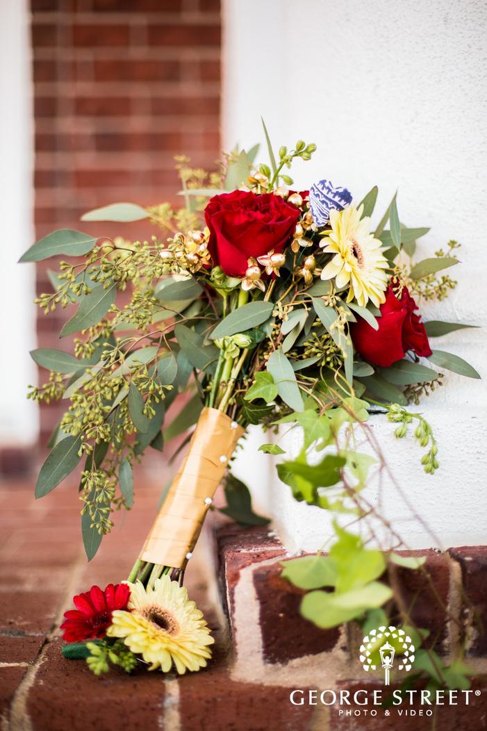 lovely bridal bouquet detail