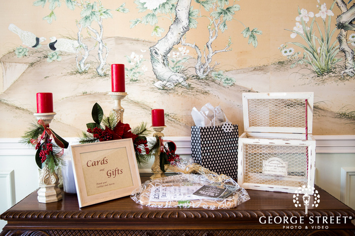 lovely cards and gift board detail wedding photography