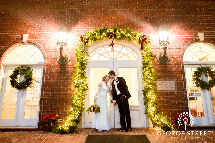 loving bride and groom at the mansion at colovista in austin