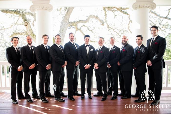 stunning groom and groomsmen wedding photo