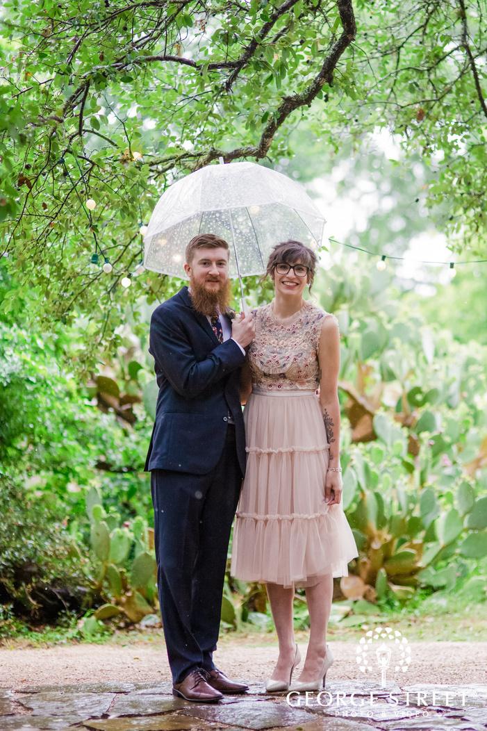 lovely bride and groom on walkway wedding photography