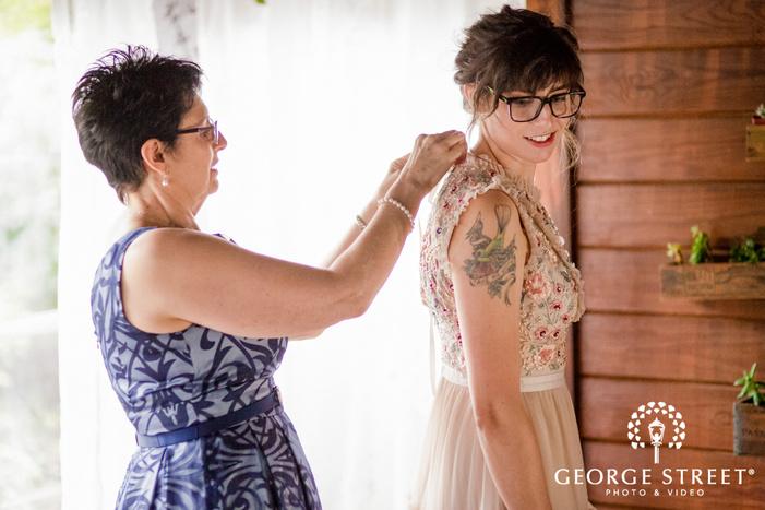 pretty bride getting ready wedding photo