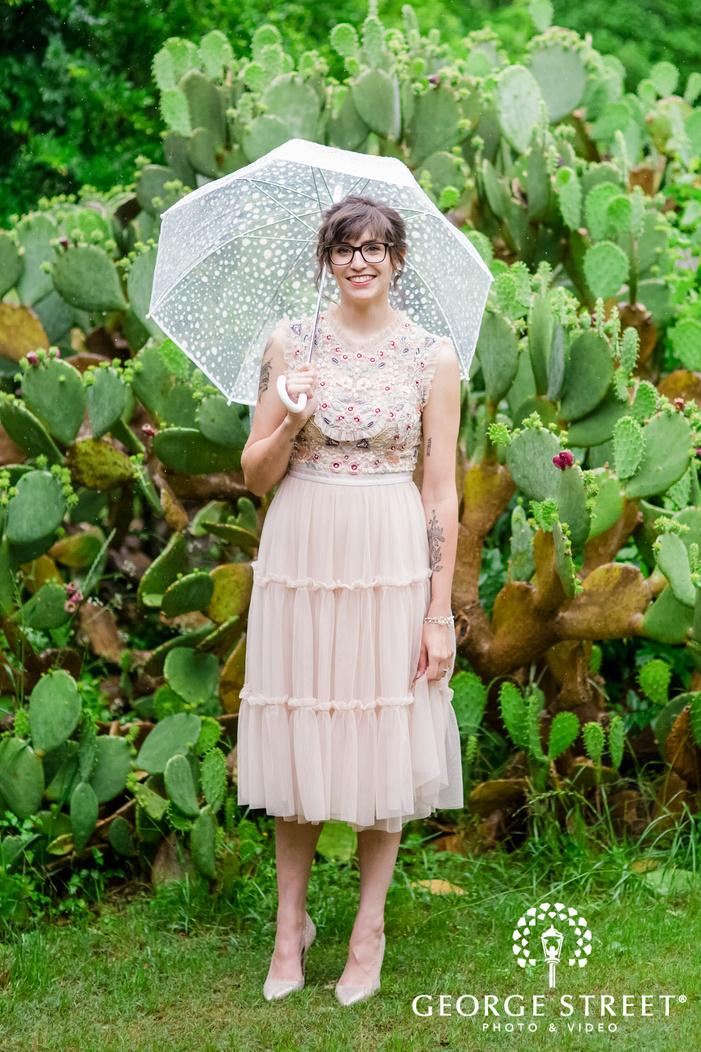 pretty bride in lawn wedding photo