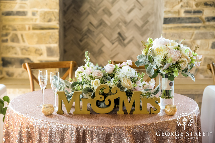 classy couple reception table details wedding photo