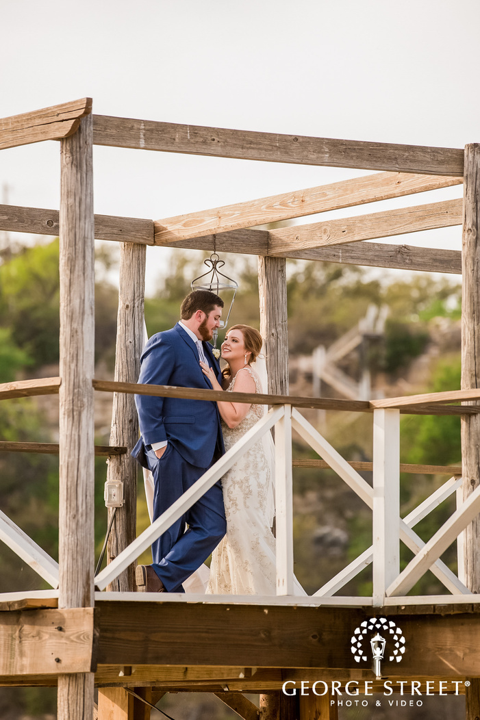 adorable bride and groom on dock wedding photography