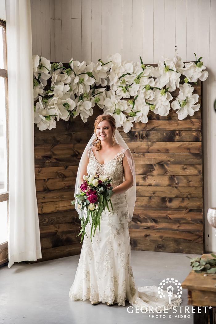 beautiful bride in reception hall wedding photography