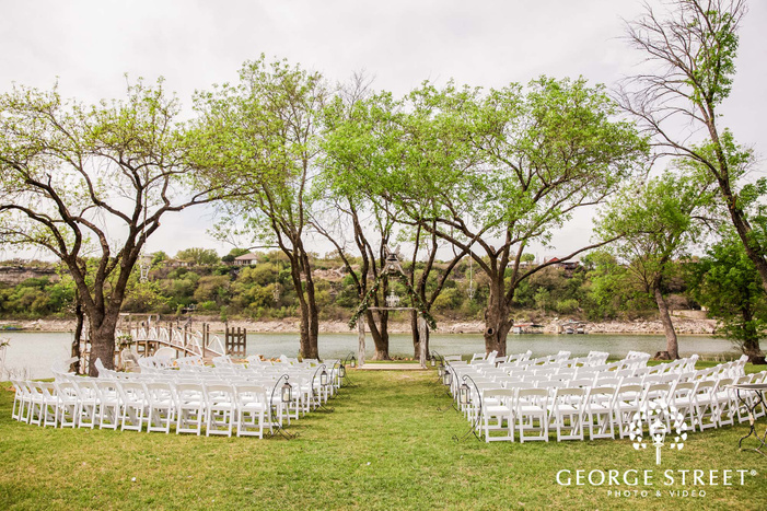 beautiful wedding altar in green field wedding photo