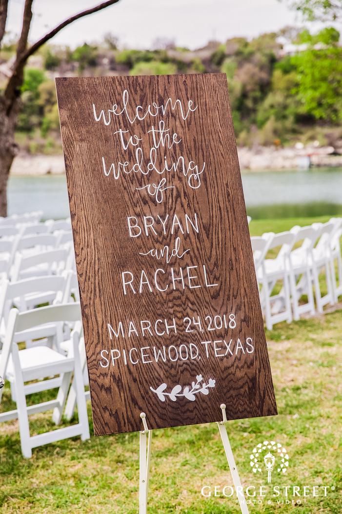 classic wedding welcome board wedding photo