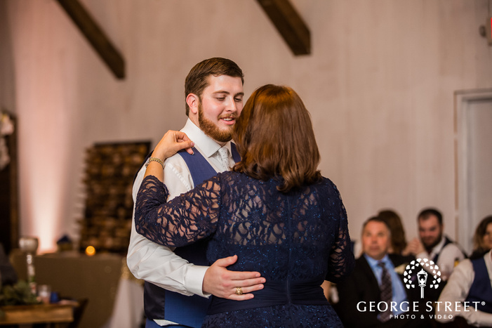 sweet groom and mother reception dance wedding photos