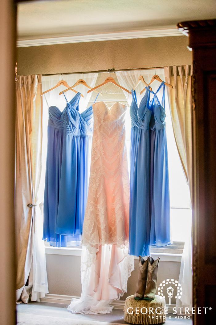 elegant birde and bridesmaids attire wedding photo