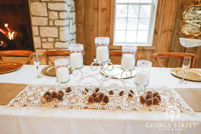 classy reception decor details wedding photo
