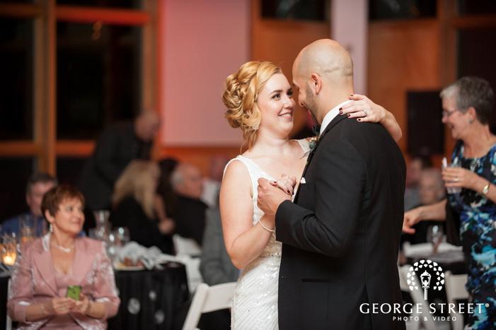 Danada House Chicago wedding reception bride and groom first dance