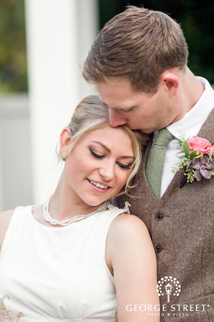 danada house chicago outdoor wedding portraits bride and groom