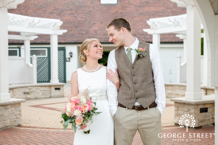 danada house cute outdoor wedding portraits bride and groom