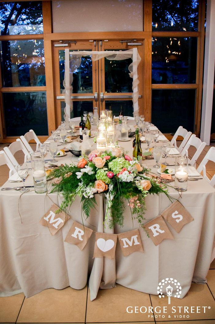 danada house indoor wedding reception venue table decor