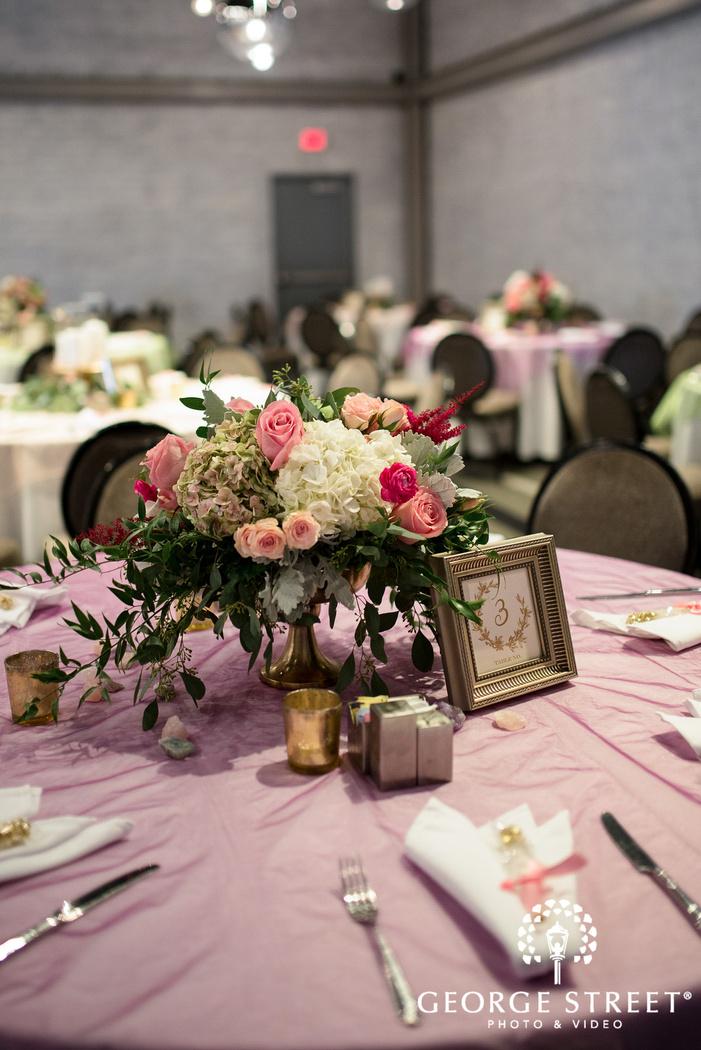 amazing reception hall setting wedding photo